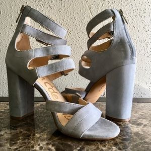 Sam Edelman | Yasmina Blue Leather Strappy Heels
